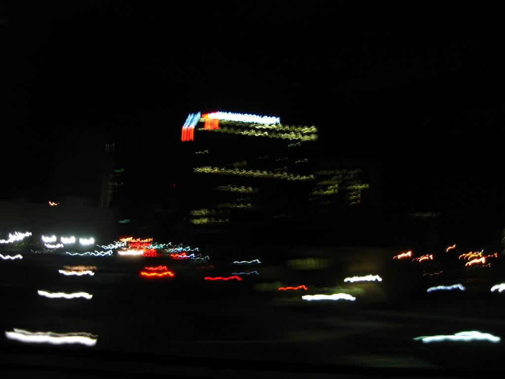 Newark lights at night